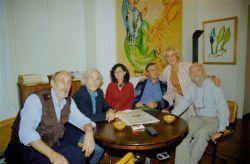 con i pittori Campagnoli e Casorati, Vinny e Marcello Scorsone, Palermo 2004