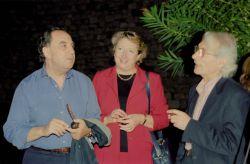 con il poeta Aldo Gerbino e sua moglie Sofia, Taormina 2004