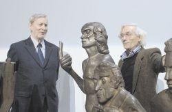 con il filosofo Gianni Vattimo alla mostra antologica di Sciavolino organizzata dalla Regione Piemonte