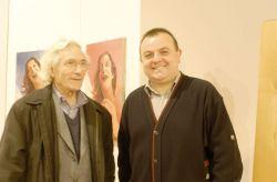 con l'on. Umberto D'Ottavio alla mostra antologica di Sciavolino organizzata dalla Regione Piemonte