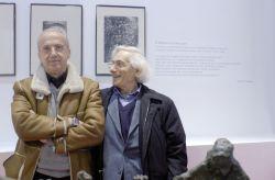 con il poeta Alberto Tomiolo alla mostra antologica di Sciavolino organizzata dalla Regione Piemonte