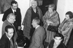 con il poeta Rafael Alberti, il regista De Bosio e la gallerista Von Stein, Torino 1966