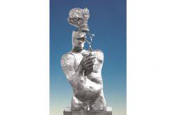 Il fumo, 1979, bronzo cm h 84 x 35 x 18, Galleria d'Arte Moderna della Città di Gallarate, Varese