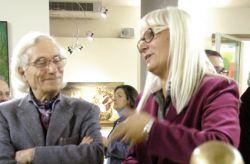 con Margherita Casazza direttrice di Reality Magazine, alla mostra FantasticArte, San Miniato 2011