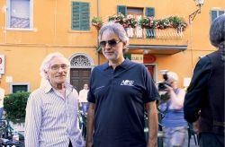 con il cantante Andrea Bocelli, Lajatico, 2013