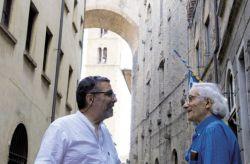 con il critico d'arte Nicola Micieli, Volterra 2013