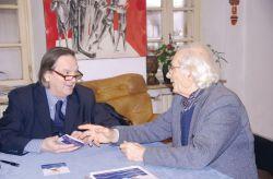 con il critico d'arte Angelo Mistrangelo, Rivoli 2015