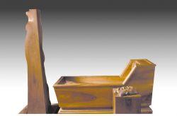 Marat-Rifrazione, 1977-79, legno di noce, cm 280 x 170 x 70