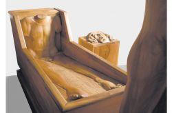 Marat-Rifrazione, 1977-79, legno di noce, (particolare) cm 280 x 170 x 70