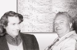 con il pittore e scrittore Carlo Levi, Roma 1969