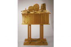 Sarkofag, 1986, legno di cirmolo e douglas cm h 163x108x50