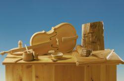 Sarkofag, 1986, legno di cirmolo e douglas (particolare) cm h 163x108x50