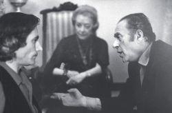 con il pittore Renato Guttuso e sua moglie Mimise, Velate 1971