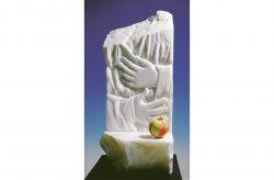 Dove l'arcano regna, 1991, marmo bianco di Carrara cm h 65x30x25