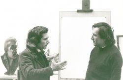 con il pittore Lucien Fleury, Parigi 1975