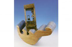 Venezia, 1995, legno di ulivo e bronzo cm h 80x80x40