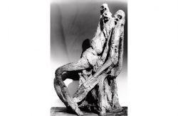 Deposizione, 1957, gesso, (Laterale) cm 160 x 100 x 80
