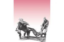 Deposizione a mano armata, 1963, bronzo, cm 45 x 55 x 43
