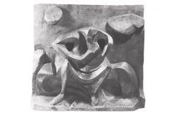 La donna e la luna, 1957, bronzo, cm 70 x 50