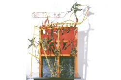Fahrenheit 124, 1967, ferro colorato, bronzo, acciaio, cm 130 x 80 x 60