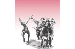 Uccisione di Giovanni Ardizzone, 1964, bronzo, cm 43 x 43 x 33