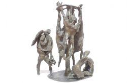 Impiccagione in piazza, 1964, bronzo, cm 58 x 50 x 32